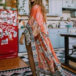 Boho Floral Kimono Duster